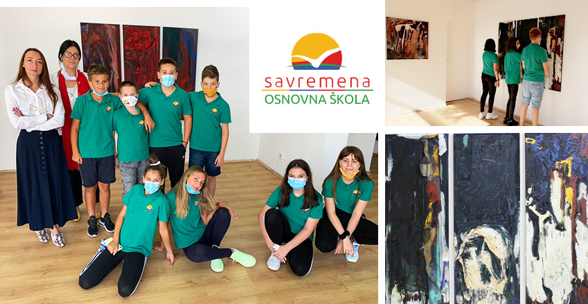 """Art lesson at the """"Blok"""" gallery – visiting the exhibition of Suzana Vulović"""