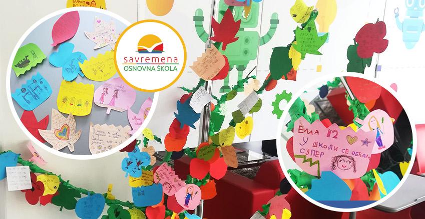 Emotion Tree workshop illustrates children's affection for school