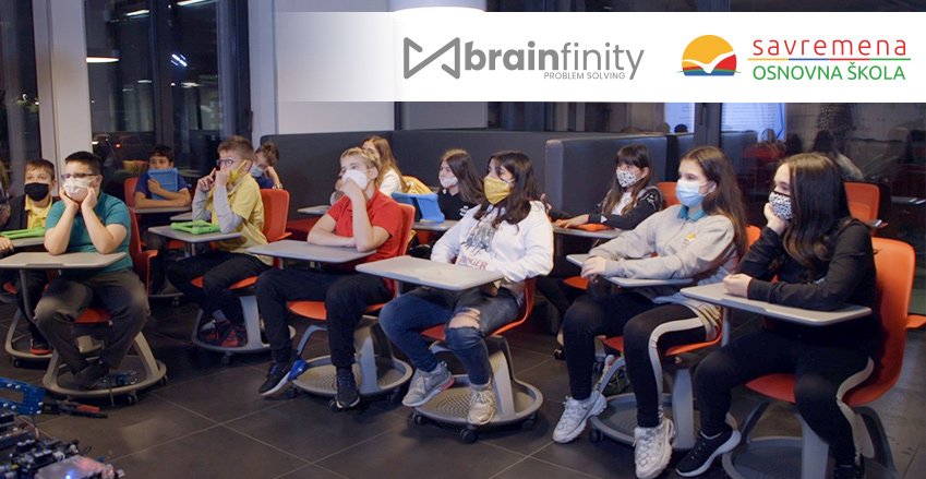 Primary School Savremena has officially become a Brainfinity Problem Solving School