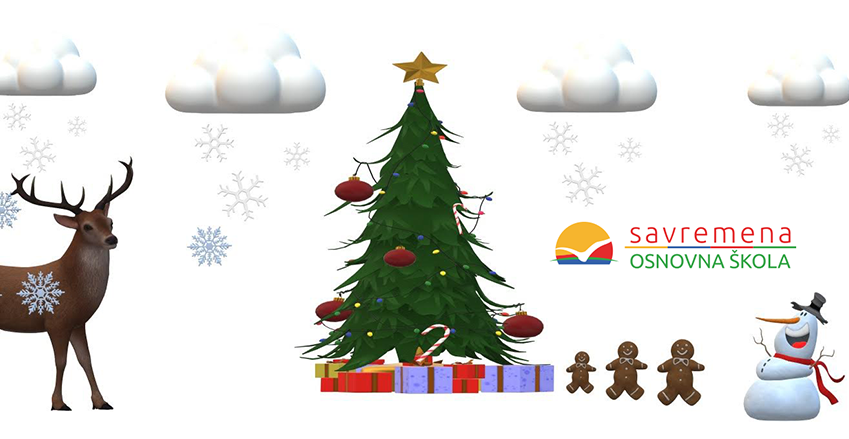 Happy holidays – New Year's wishes on the students' digital cards